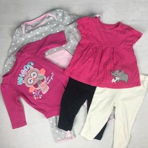 Baby Girl 5 Piece Bundle size 3-6 Month